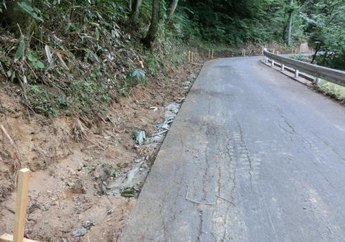 舗装工事前の状況の写真