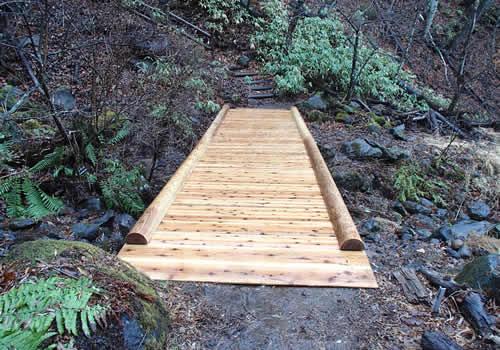 八千穂高原自然園木橋修繕の写真